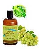Traubenkernöl Bio. 100% reine / natur / unverwässerte / Virgin / unparfümiert / zertifizierten Bio / Kaltgepresste Trägeröl für Haut, Haare, Massage und Nagelpflege - 120ml