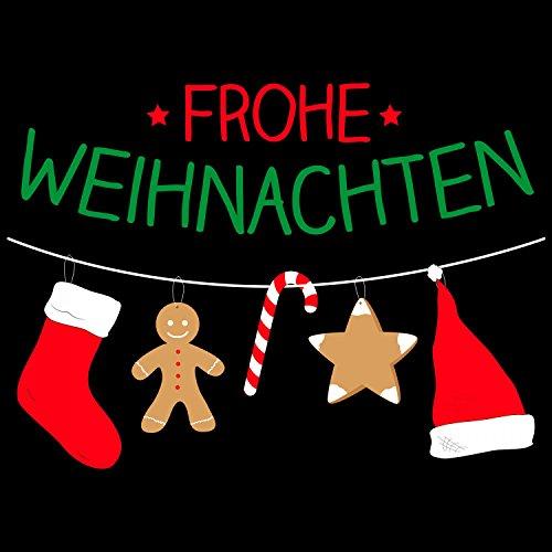 Fashionalarm Herren T-Shirt - Frohe Weihnachten | Fun Shirt als Geschenk Idee Heiligabend Nikolaus Schwarz