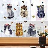 Personale l'animale domestico Cute Cat Stickerdecorative Immagine Paperfor Famiglia Soggiorno (multicolore)