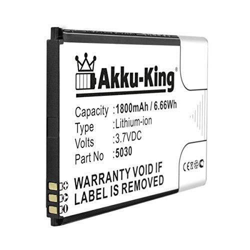 Akku-King Akku ersetzt Wiko 5030 - Li-Ion 1800mAh - für Lenny 2