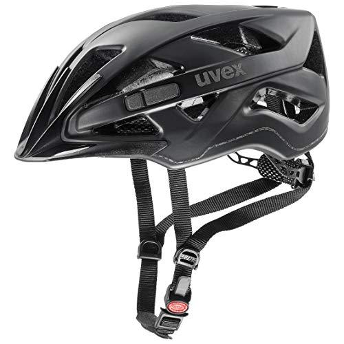 uvex UnisexErwachsene active cc Fahrradhelm, black mat, 56-60 cm