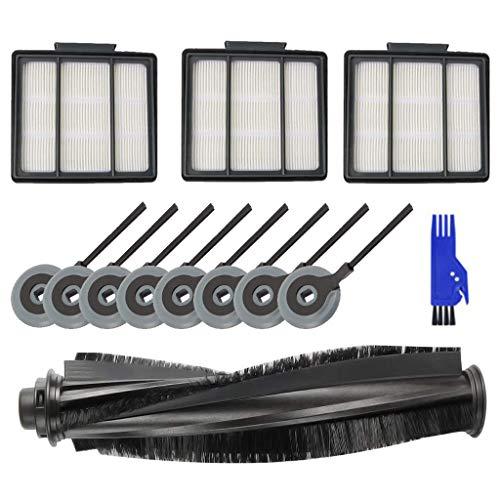 Rifuli® Zubehör für Staubsauger Brush Filters Side Brushes Accessories For Shark ION Robot S87 R85 RV850 RV850BR Hauptbürstenfilter Seitenbürsten Zubehör 0510#017