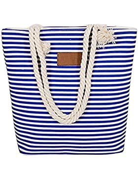 Segeltuchstreifen-Schulterbeutel Gross Handtaschen-Strandtasche beiläufiges Tasche mit großer Kapazität