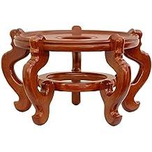 Muebles Orientales Tamaño Extra grande, 15pulgadas estilo chino decorativa porcelana pecera soporte/base, miel mancha