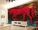 LHDLily 3D Wandbild Tapete Wallpaper Fresken Mural Benutzerdefinierte Hintergrundbilder Home Decoration Abstrakte Kunst
