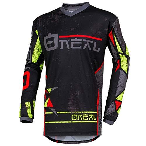 O'Neal Element Zen Motocross Jersey MX Enduro Gelände Cross Trikot Dh FR MTB Motorrad, 001E-0Adult, Farbe Neon Gelb, Größe S