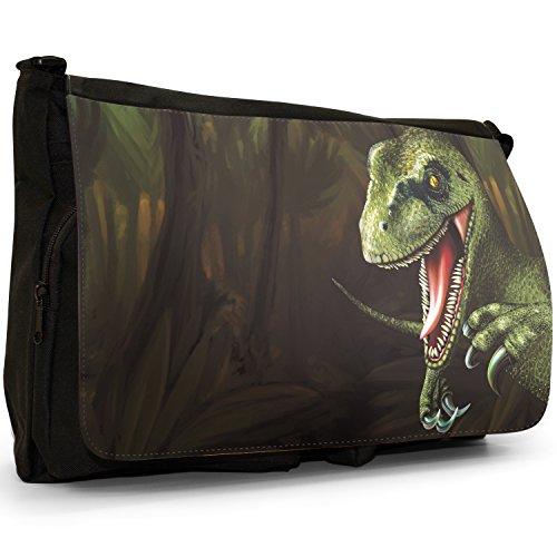 dinosauro scuola Lizard Messenger Terrible Tela Jurassic Scary Velociraptor a Per Borsa tracolla Laptop Nera Grande borsa Raptor RdqvxCw