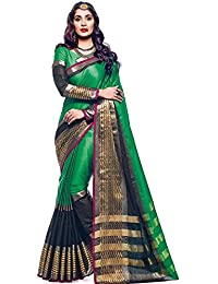ANNI DESIGNER Indian Women's Cotton Silk Festive Saree with Blouse Piece