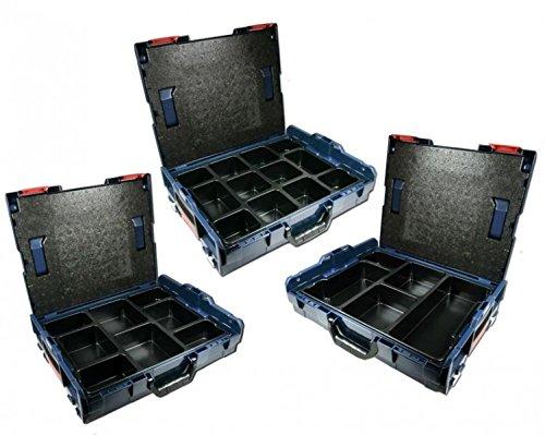 Preisvergleich Produktbild Bosch L-BOXX Größe 1 Sortimo 102 - 3 Stück mit Kleinteileinsatz MIX-Mulden