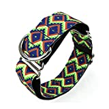 New Personalisierte Stoff Super Stark Langlebig Reef Hundehalsband Halsband Martingal Mittelgroße bis große Hunde 3,75 cm breit Halskette