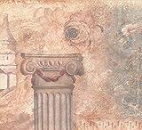 Retro Art Antike Säule Cup Schloss Blumen Beige Breite Wallpaper Border Retro-Design, Rollen 15 x 12