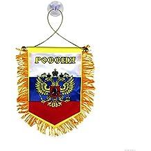 Bandierina Russia gagliardetto per auto e pareti 13 х 9 cm con ventosa