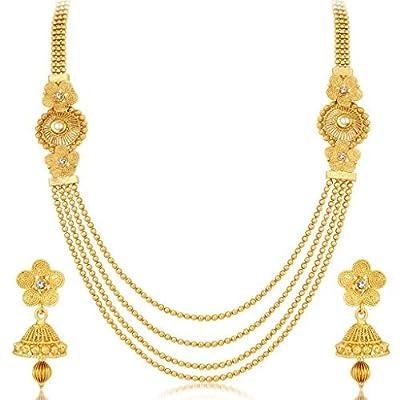 Sukkhi Jewellery Set for Women (Golden)(3250NGLDPKN1000)
