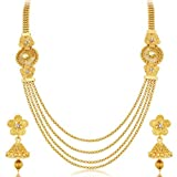 #5: Sukkhi Jewellery Set for Women (Golden)(3250NGLDPKN1000)