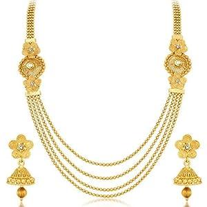 Sukkhi Jewellery Set for Women (Golden)(3250NGLDPKN1000) Best Online Shopping Store