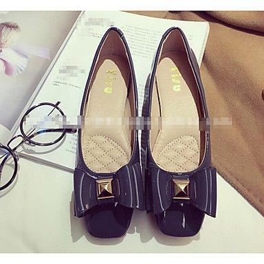 Confortevole ed elegante piatto scarpe donna tacchi altri Esterno in similpelle nero grigio verde Borgogna Blue