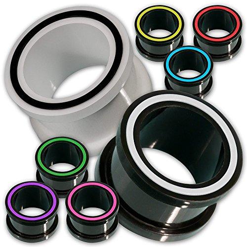 Silikon Tunnel, Flesh-Tunnel, Ohr-Tunnel - 1 Stück Design Hollow Eye von Fly Style® - Plugs Tunnels Piercing-Schmuck in vielen Farben & Größen, Grösse:10 mm;Farbwahl:lila / violett