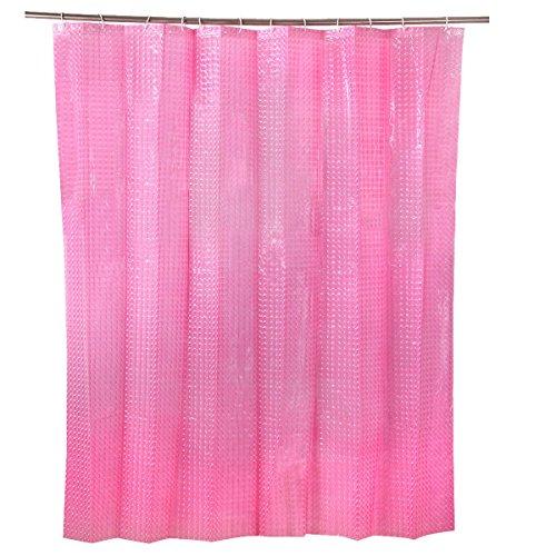 ERDFCV Duschvorhänge Wasserdicht Hochwertige Multifunktionale Herrlich Vorhänge Dusche,Pink-180*180cm (Herrliche Dusche Vorhang)