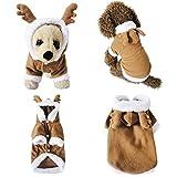 Mogoko cane gatto di Natale costume di Babbo Natale, renna Pet cucciolo di costumi cosplay con cappuccio, in pile caldo outfit abbigliamento abbigliamento festival