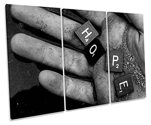 Esperanza Inspirador mano agudos caja de lienzo cuadro Impresión, 120cm wide x 80cm high