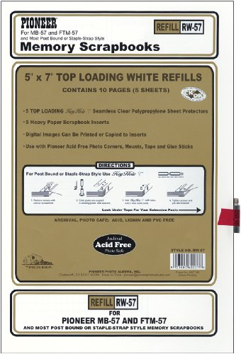 Pioneer Nachfüllpackung Postbound 12,7 x 17,8 cm, Weiß 5