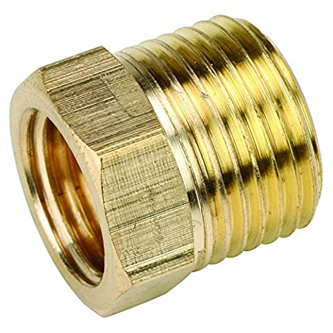 Brass Male 3/8 x 1/4 BSP - Male x Female Reducing Bush Adapter Thread (Accessori Idraulico Del Pvc)