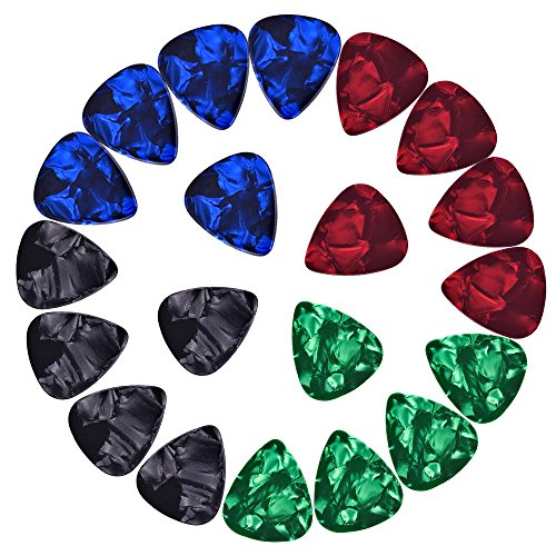 mudder-assorted-celluloid-guitar-picks-plectrums-046-mm-071-mm-096-mm-and-12-mm-20-pack