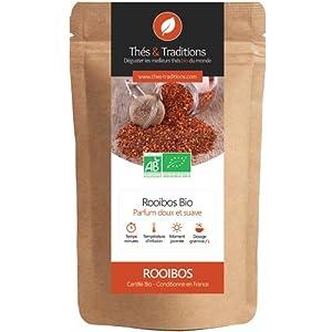 Thés & Traditions - Un rooibos nature dépourvu de caféine à consommer sans modération | 100g