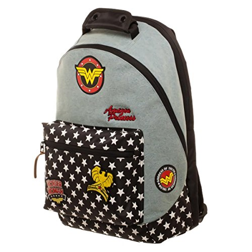 DC Comics Wonder Woman Denim Mochila with Patches