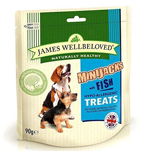 James Wellbeloved Hundefutter Hund minijacks Müsli frei Fisch, 90g, 10Stück
