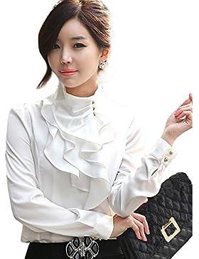Aisuper - Camisas - Button Down - Manga Larga - para mujer
