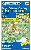 Pragser Dolomiten, Enneberg, Kronplatz: Wanderkarte Tabacco 031. 1:25000 (Cartes Topograh)