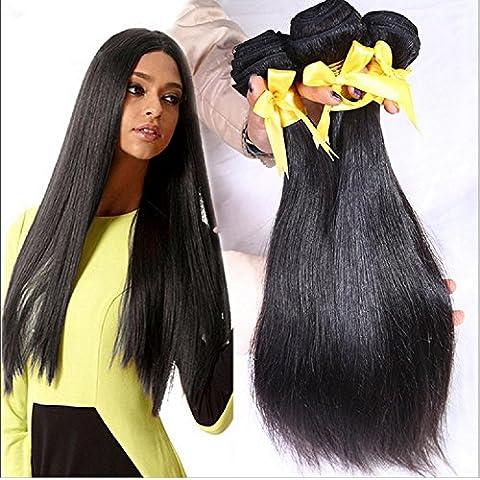 Meydlee AccessoriPosticci 6a brasiliano dritto capelli tesse 3pcs/lot Vergine Remy umana capelli bundle naturale colore totalmente 300g/10.58 oz , 20 22 24