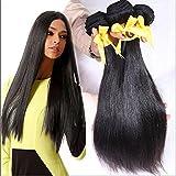 Meylee Postiches 6 a brésilienne Straight cheveux tissages 3pcs/lot vierge Remy humain Hair faisceaux naturel couleur totalement 300g/10,58 onces , 26 28 30