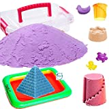 #6: Akhand 1 KG Active Sand for Kids to Play with 10 Shape Moulds and Inflatable Sandbox