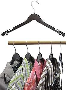 Hagspiel Kleiderbügel aus Kunststoff, schwarz, Rockhaken, 43 cm 20 Stk.