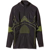 X-Bionic Adultos en función de la Ropa se Acc EVO UW Camiseta LG SL Zip Up, Primavera/Verano, Unisex, Color Charcoal/Yellow, tamaño S/M