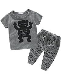 iBaste Niños Camisetas de algodón + Pantalones largos del Muchachos Conjuntos de bebe Niño de la Moda 2016 Nuevo