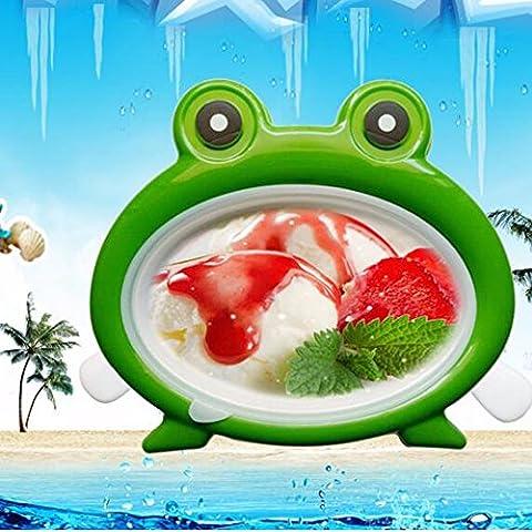 Sorbetière,machine à glace au yaourt frit frit ménage Machine à glace Ice Cream Ice Porridge Petits enfants Bricolage Disc