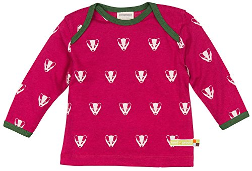 loud + proud Unisex Baby Woll-Anteil, Druck_1007 T-Shirt, Violett (Berry Ber), 104 (Herstellergröße: 98/104) -