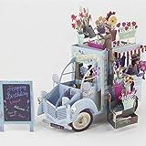 Cold Toy 3D Pop Up Girlande Fahrzeug Grußkarte Weihnachten Valentinstag Geburtstagseinladung