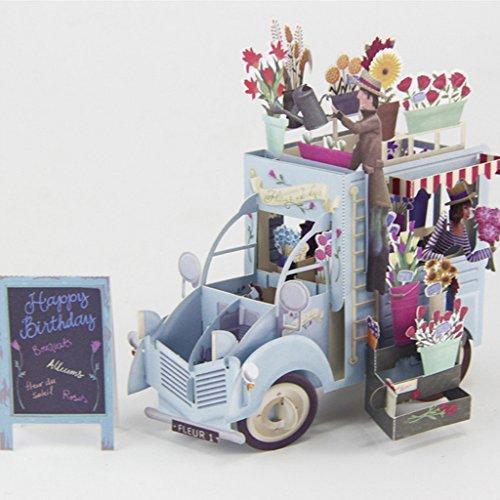(Cold Toy 3D Pop Up Girlande Fahrzeug Grußkarte Weihnachten Valentinstag Geburtstagseinladung)
