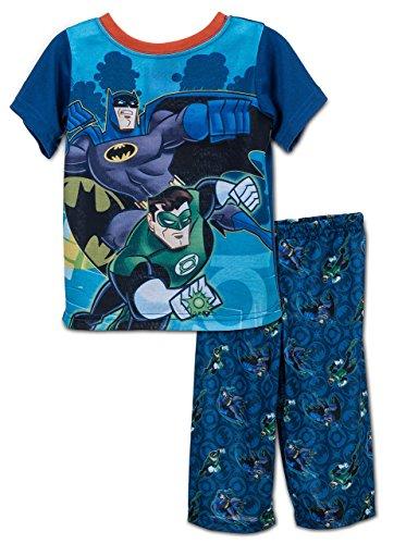 DC Comic - Ensemble de Pyjama - Bébé (Garçon) 0 à 24 Mois Bleu Bleu 2T