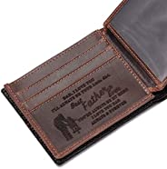 Men Wallet with RFID Blocking - Personalized Engraved Leather Wallet for Boyfriend Husband Son Dad - Customize