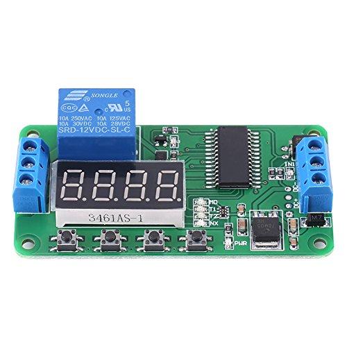DC 12V LED Automatisierungs Verzögerungs Timer Steuerschalter Relais Modul Multifunktionsrelais-Zyklus-Timer-Modul 1 Kanal Digital LED-Anzeige Brett PLC