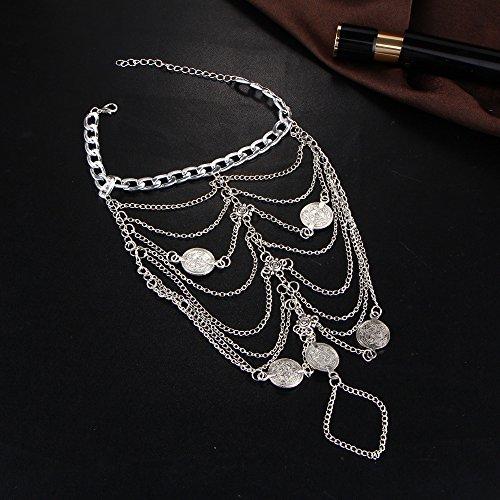 1-accoppiamenti-Boho-Vintage-Silver-Coin-Blessing-Simbolo-nappa-Calze-piede-per-le-donne-nappa-catena-Gioielli-Bohemian-argento