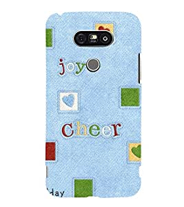 HOLIDAY ENJOYMENT QUOTE ON A DENIM TEXTURED CLOTH 3D Hard Polycarbonate Designer Back Case Cover for LG G5:LG G5 Dual H860N with dual-SIM card slots