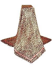 ZYUEER Echarpe Leopard Foulard Imprimé Foulard Carré Size 90x90cm ChâLe  Hiver Chaud Pas Cher 4ffbc551524