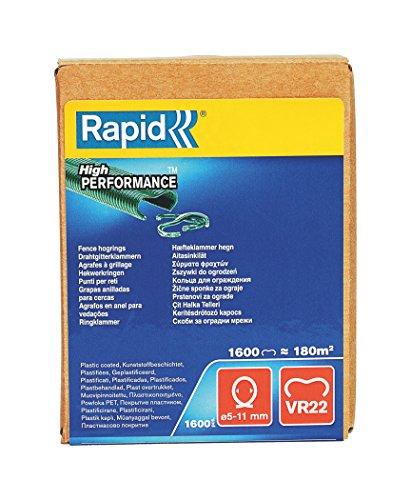 Rapid, 40108811, Agrafes de grillage galvanisées vertes, VR22,...