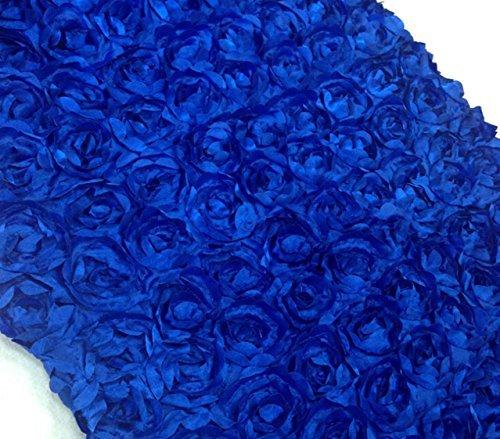 Area Rug Runner 3d Rose Aisle Carpet Runner Tablecloth 51 Wide, Royal Blue by Aimeart ()